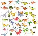 Stickers of various dinosaurs.