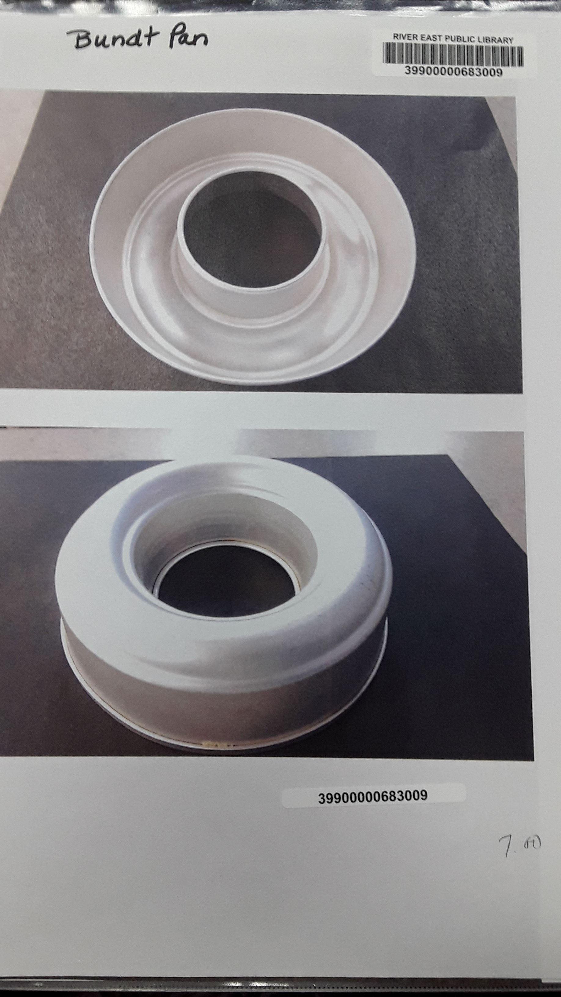 Photograph of a bundt pan