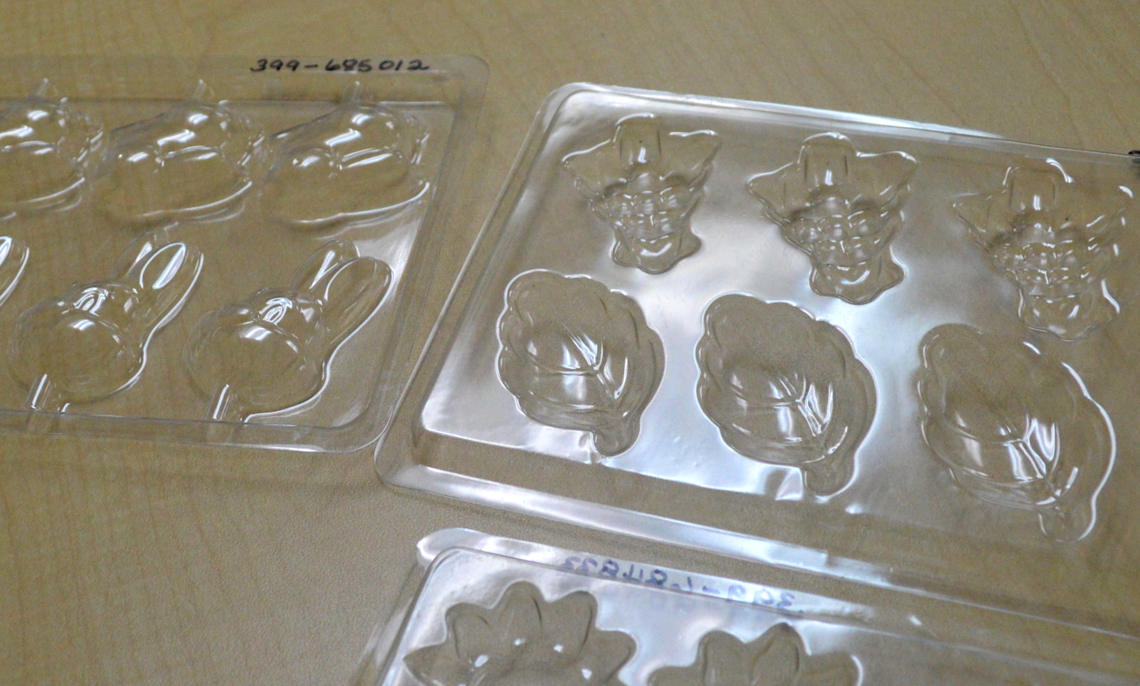 Image of a selection of plastic candy molds