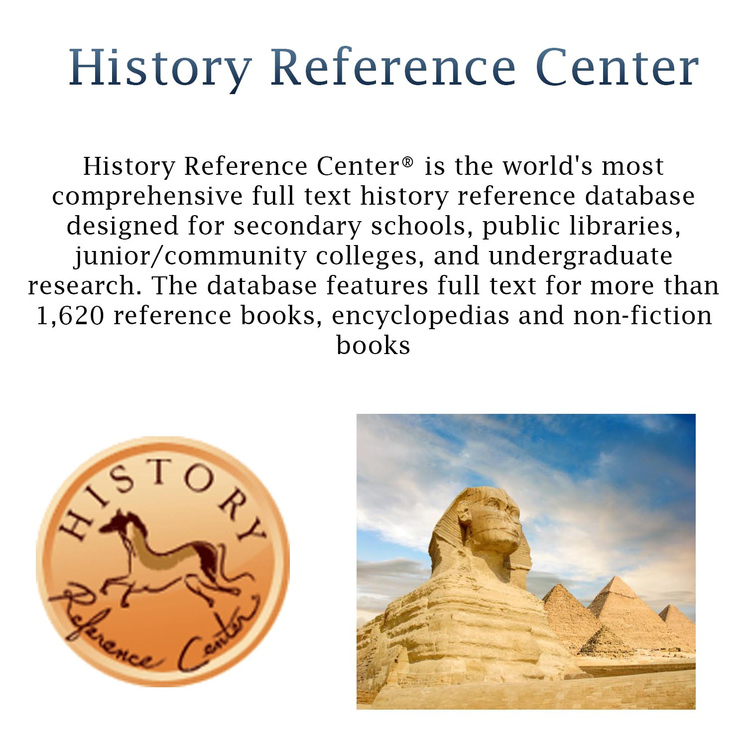Small image with a synopsis of Ebsco History Database   with clickable link
