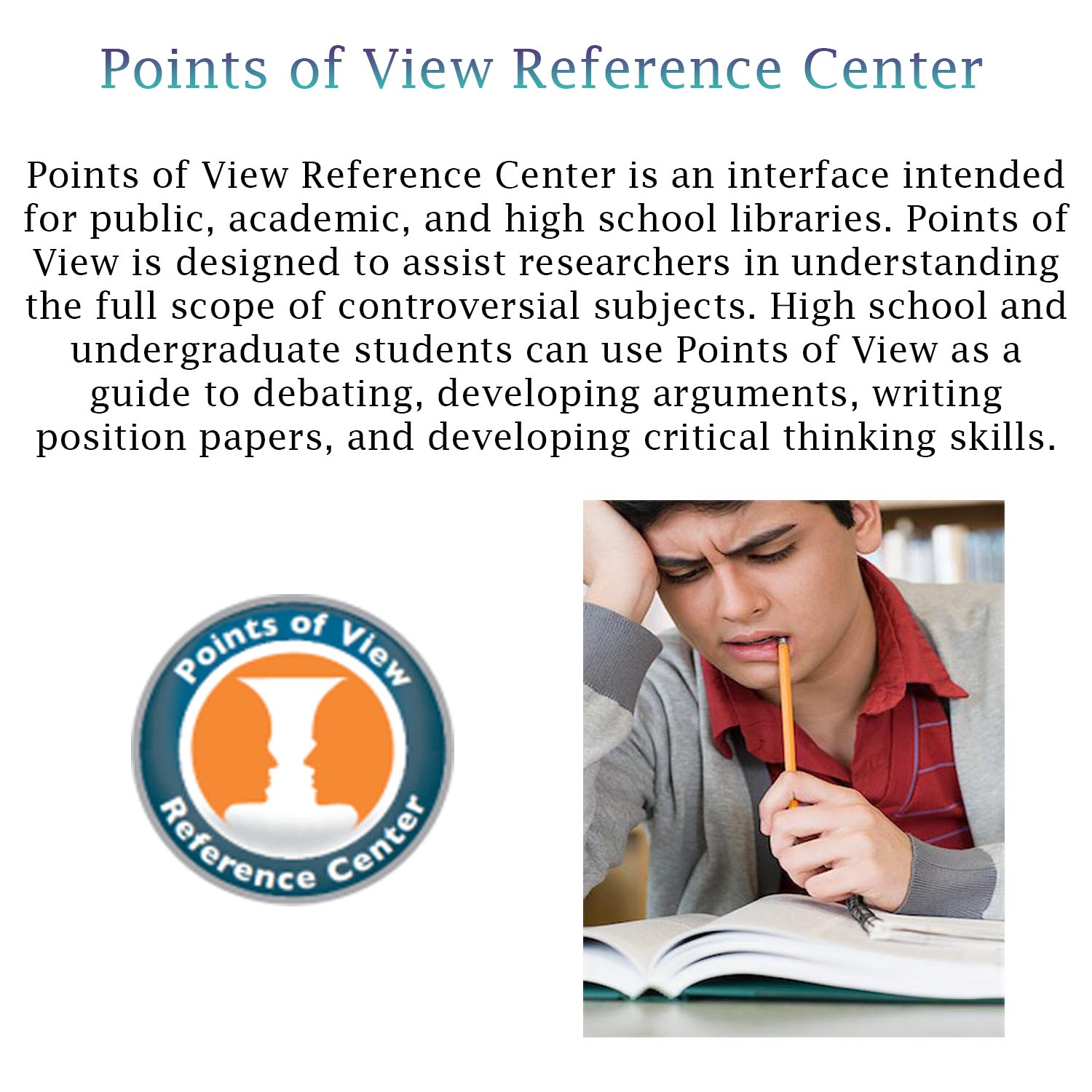 Small image with a synopsis of Ebsco's Points of View Reference Database