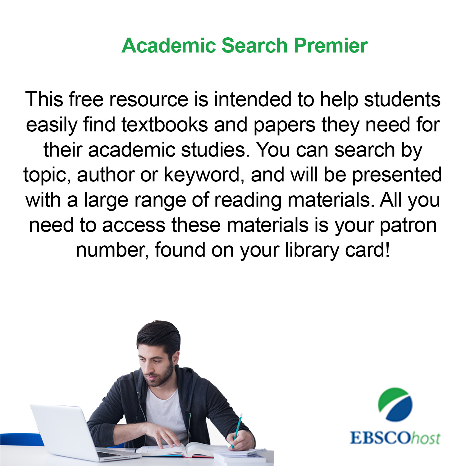 Small image with a synopsis and clickable link for EBSCO Academic database