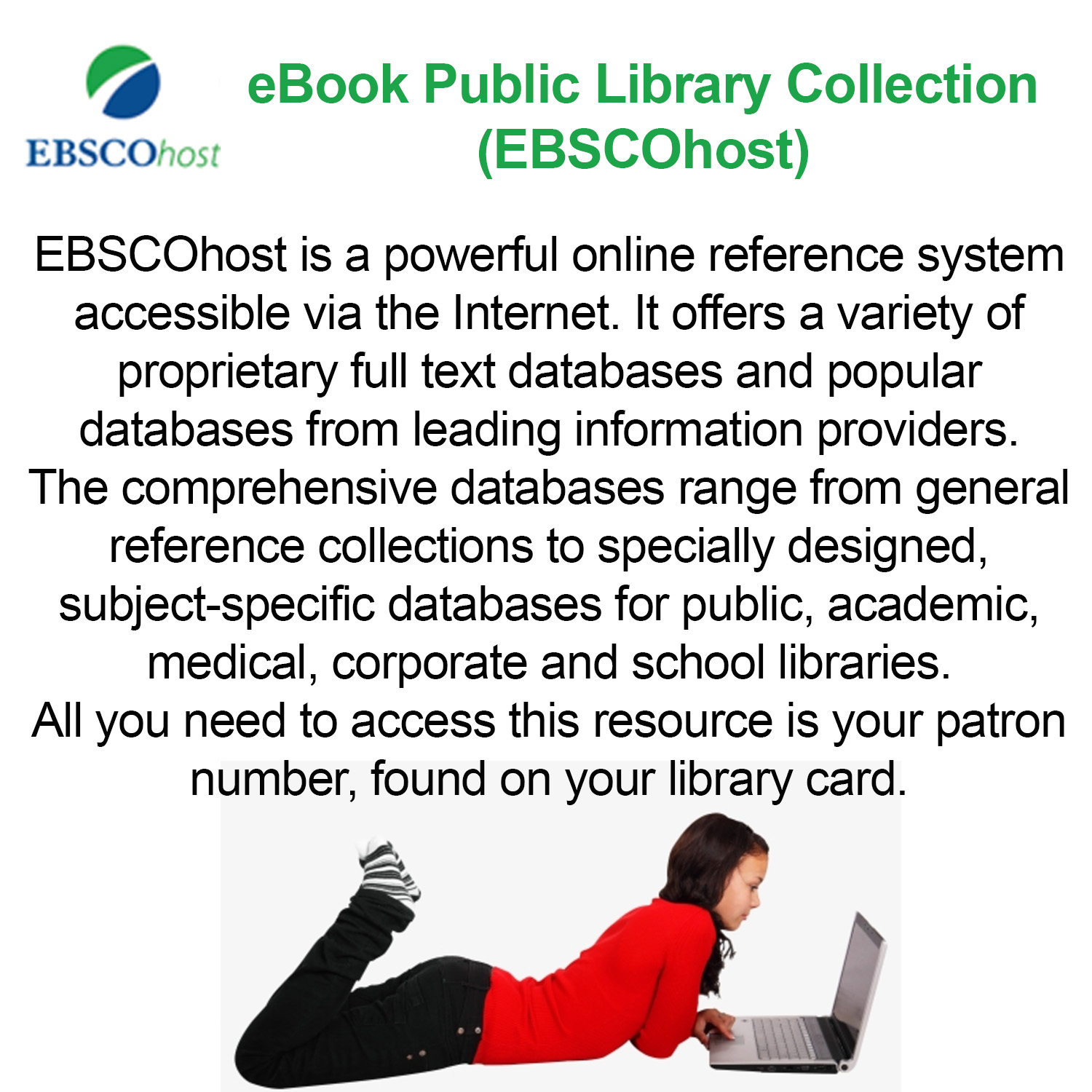 Small image with a synopsis of Ebsco Plublic Library Ebooks database   with clickable link