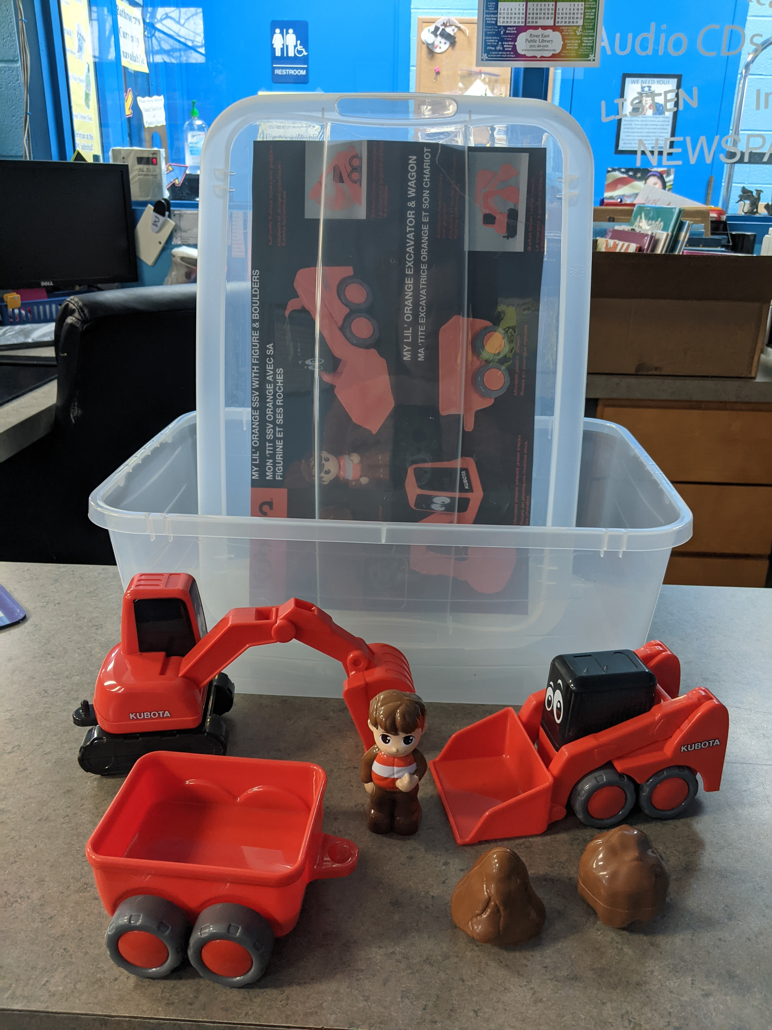 Image of an educational excavator toy