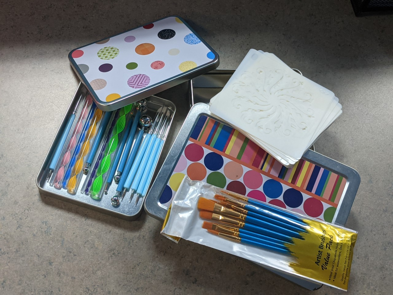 Image of the Mandala kit available for checkout at our library