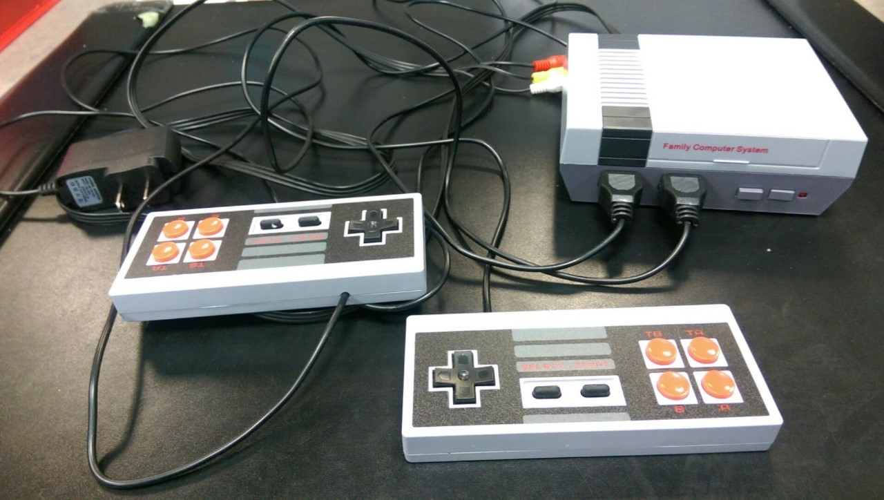 Image of a mini nintendo games system