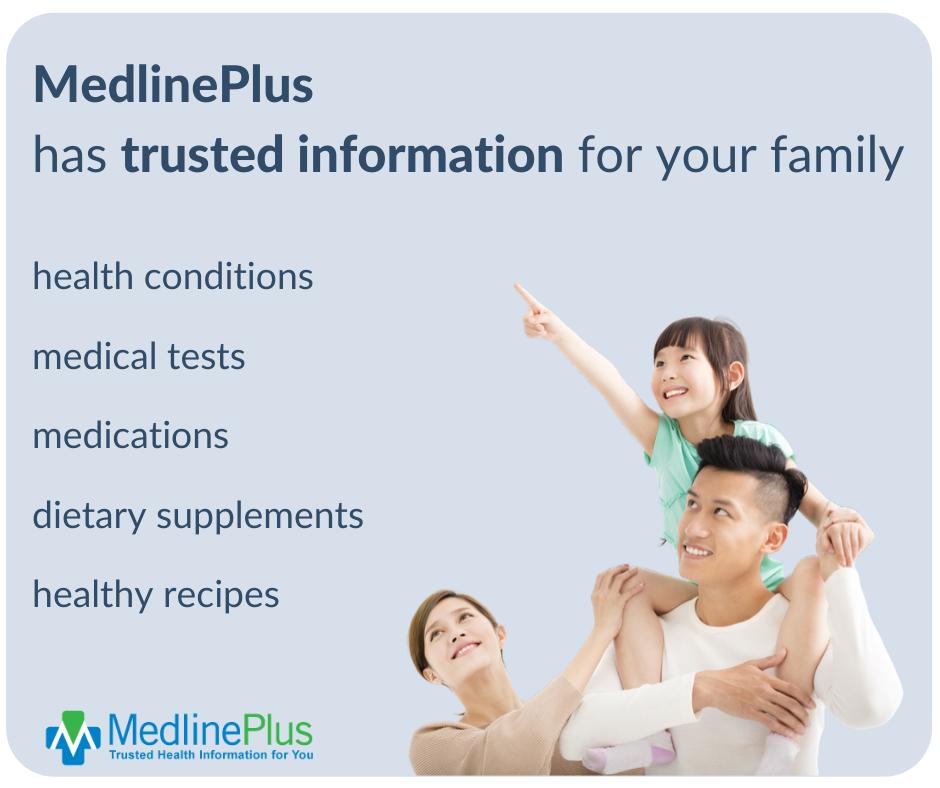 Image with details of Medline Plus website