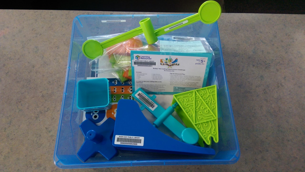Image of a Box containing a STEM Robot Toy