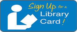 sign up for a library card banner