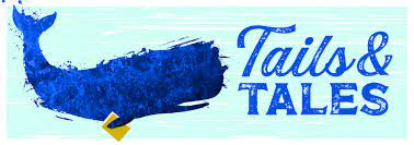 an image of the tails and tales banner - it has a whale on it
