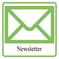 Icon and link to view the library newsletter.