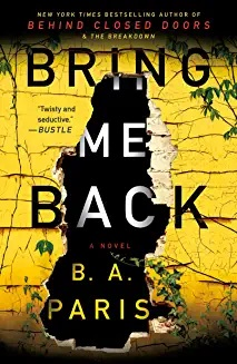Bring Me Back bookcover